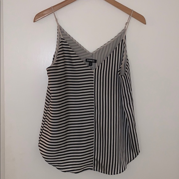 Express Tops - Express - Black & white striped Cami